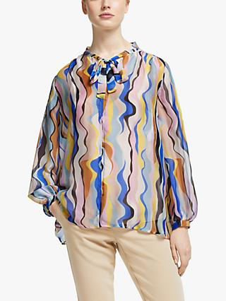 Marella Printed Silk Blouse, Multi