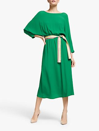Marella Gerard Dolamin Sleeve Belted Dress, Emerald Green