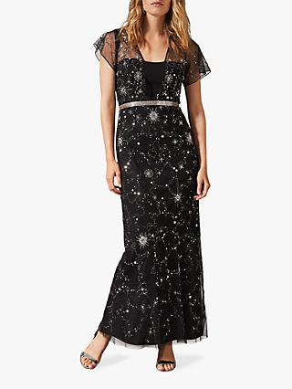 Phase Eight Anabella Beaded Maxi Dress, Black
