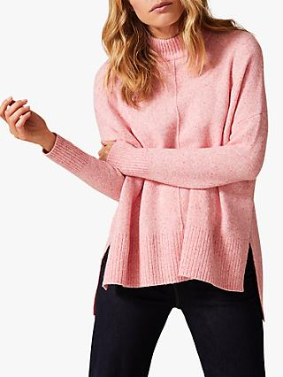 Phase Eight Alora Funnel Neck Jumper, Pink