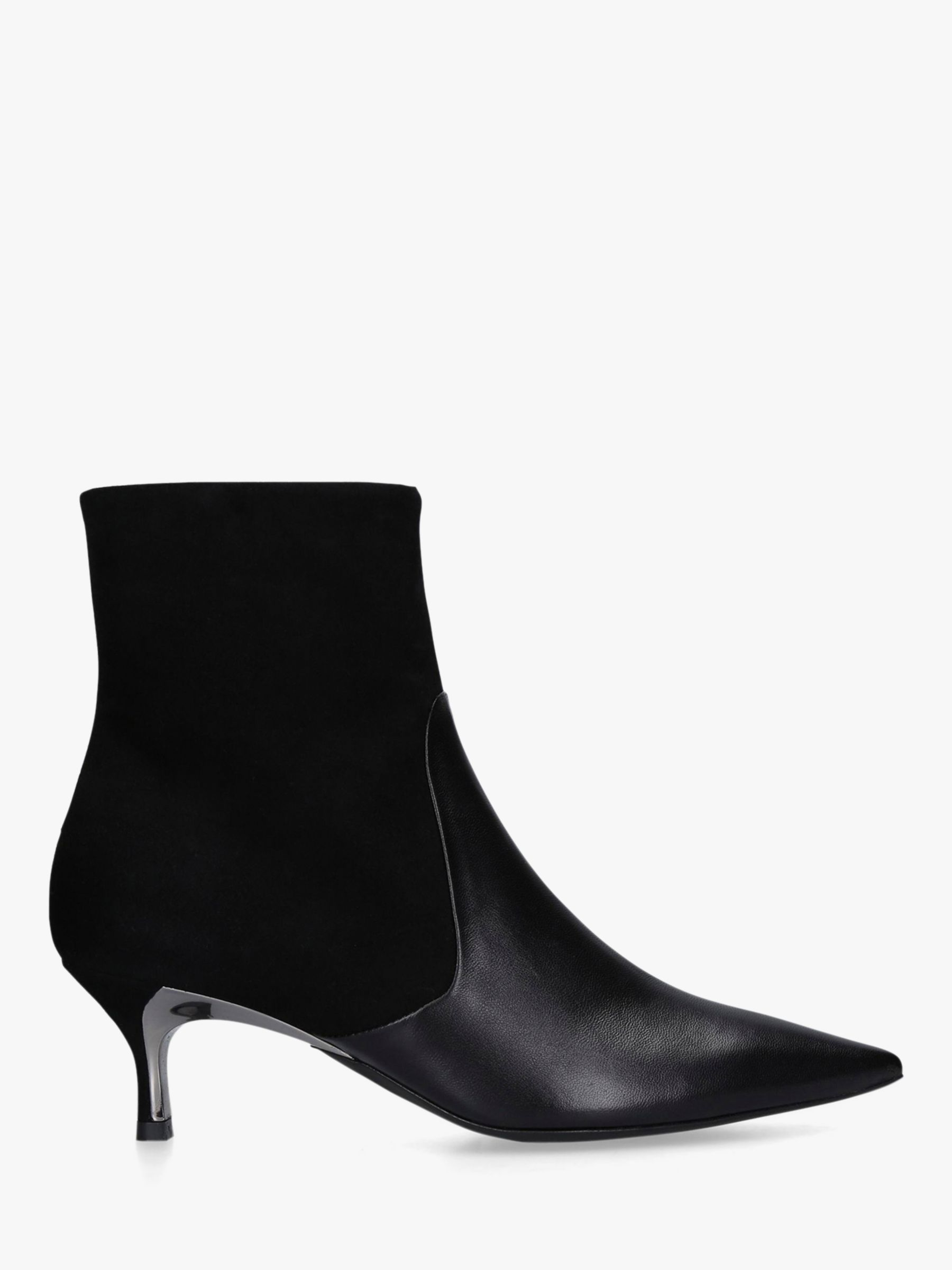 Furla Furla Eva Stiletto Heel Leather Ankle Boots, Black