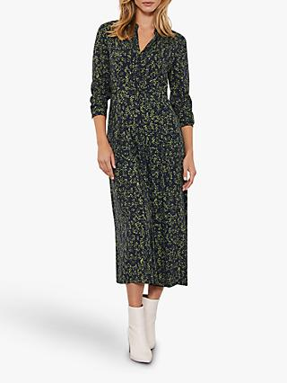 Mint Velvet Arla Floral Print Midi Dress, Multi
