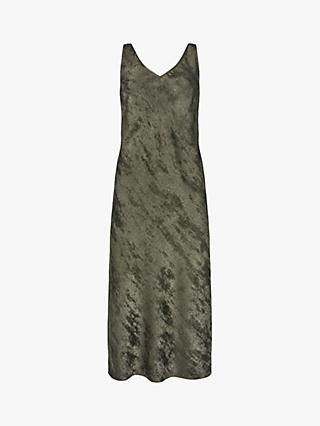 Mint Velvet Shimmer Slip Dress, Grey