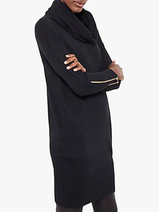 Mint Velvet Jumper Dress, Black
