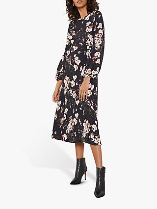 Mint Velvet Gabriella Floral Midi Dress, Multi
