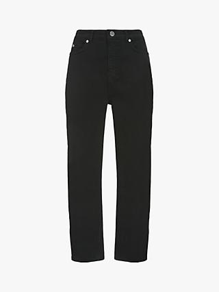 Mint Velvet Dallas Black Tapered Jeans, Black