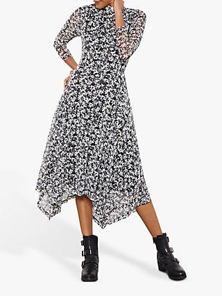 Mint Velvet Bonnie Print Jersey Midi Dress, Multi