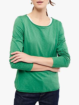 White Stuff Carly Jersey Top, Apple Green