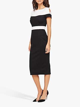 Damsel in a Dress Finola Colour Block Tailored Dress, Black/White