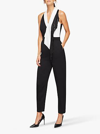 Damsel in a Dress Azalea Sleeveless Jumpsuit, Black/White
