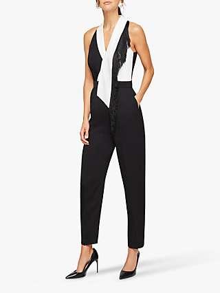 Damsel in a Dress Azalea Sleeveless Jumpsuit, Black/White