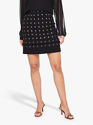 Damsel in a Dress Evlin Eyelet Mini Skirt, Black
