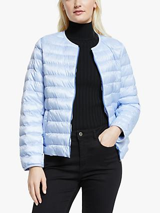 Weekend MaxMara Fiorire Quilted Jacket, Light Blue