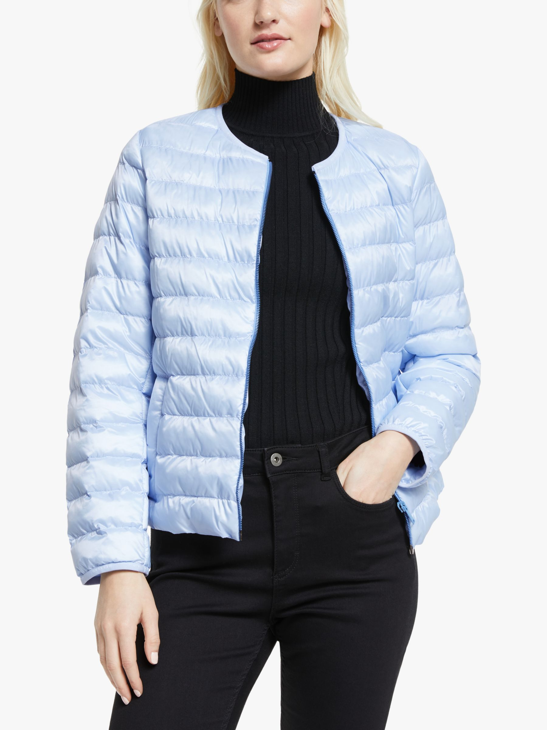 WEEKEND MaxMara Weekend MaxMara Fiorire Quilted Jacket, Light Blue