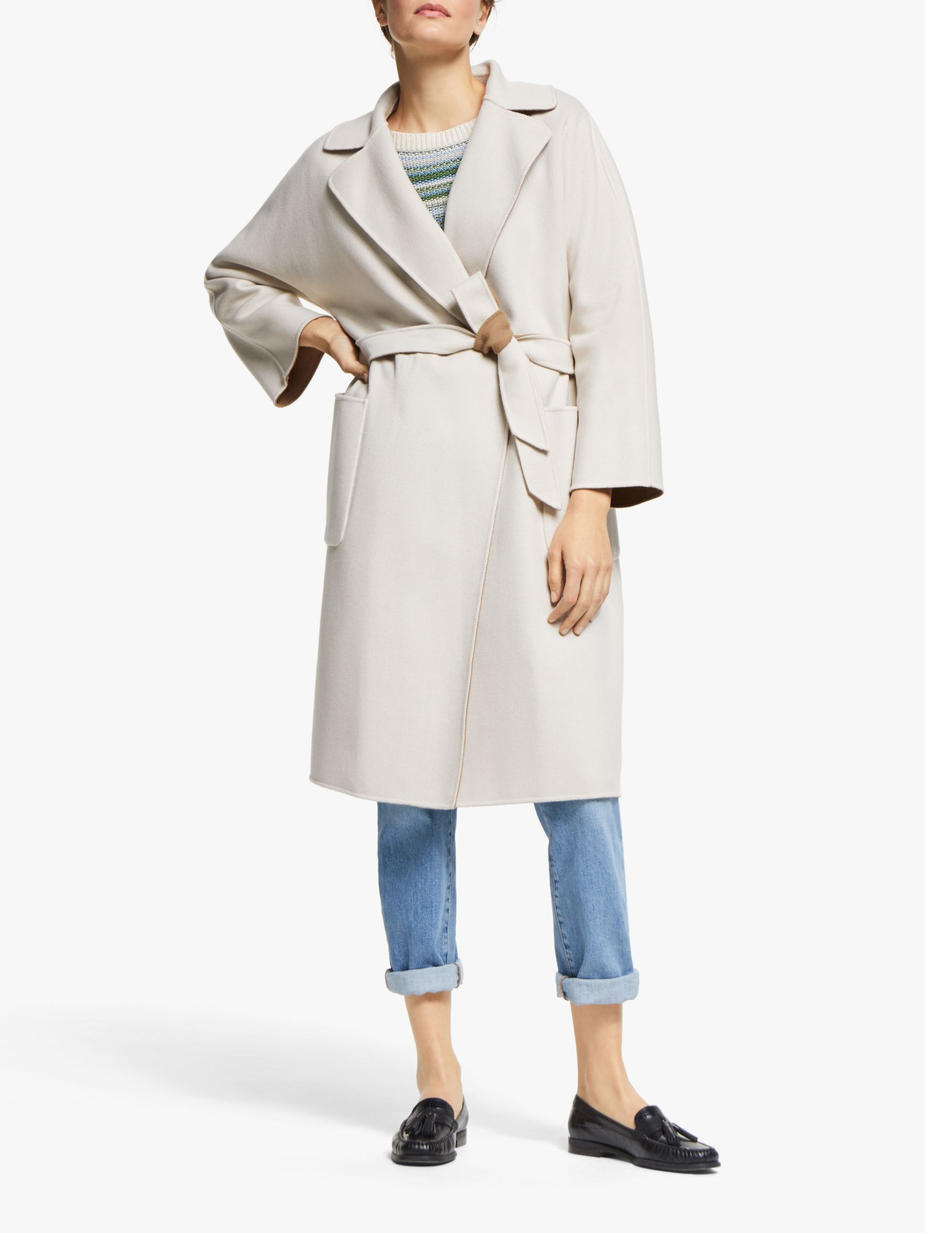 WEEKEND MaxMara Weekend MaxMara Balta Reversible Wool Blend Coat, Sand