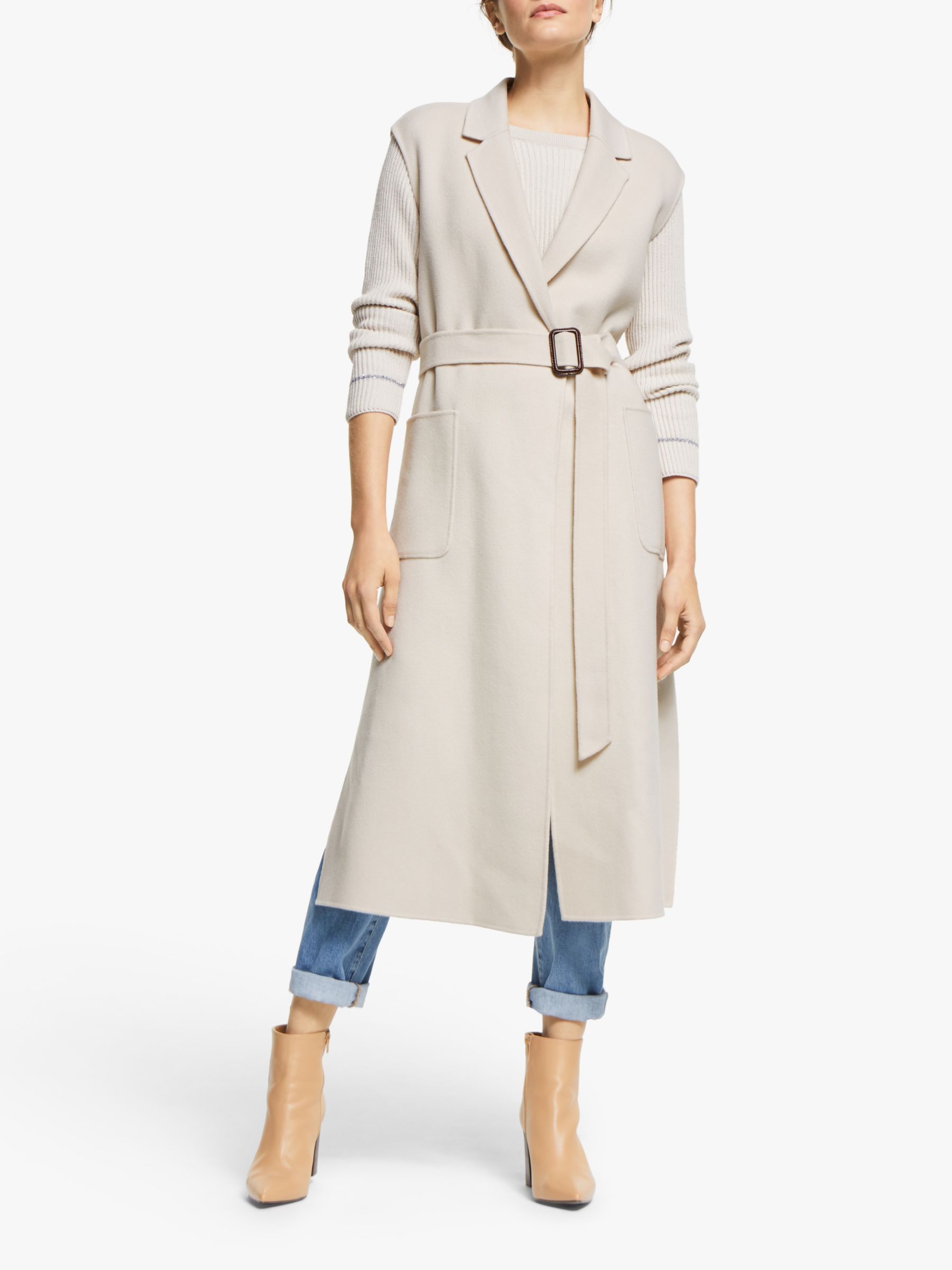 WEEKEND MaxMara Weekend MaxMara Sapri Long Gilet, Ivory