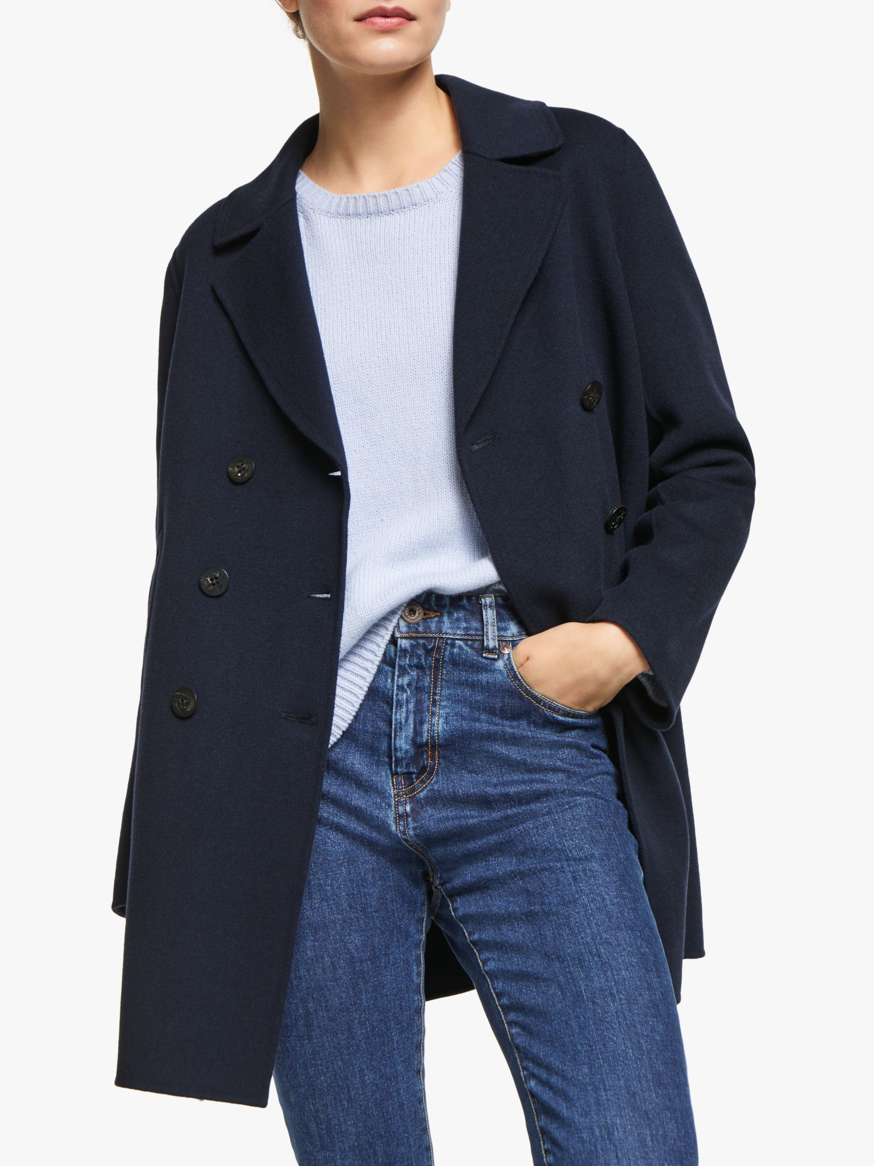 WEEKEND MaxMara Weekend MaxMara Spider Wool Blend Pea Coat, Blue