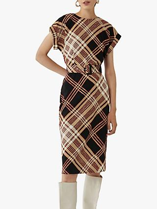 Warehouse Check Shift Dress, Multi