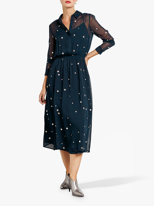Buy hush Gloria Shirt Dress, Navy, 6 Online at johnlewis.com