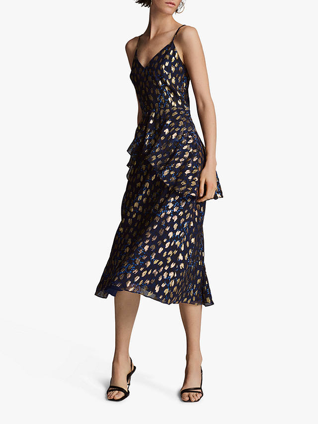Buy Whistles Leopard Christmas Dress, Multi, 6 Online at johnlewis.com