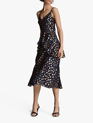 Whistles Leopard Christmas Dress, Multi