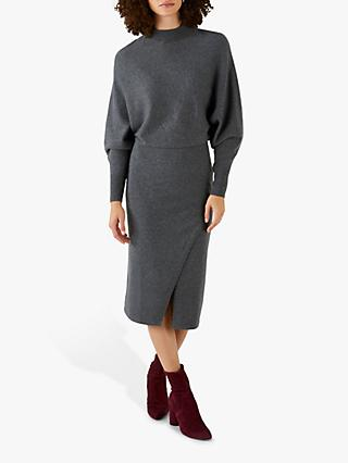 Pure Collection Knitted Wrap Skirt