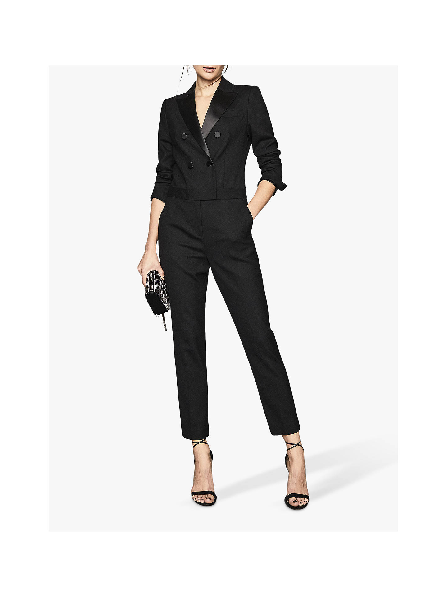 Buy Reiss Marianna Jumpsuit, Black, 6 Online at johnlewis.com