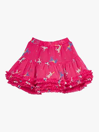 Little Joule Girls' Lillian Skirt, Pink