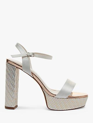 Rainbow Club Nattie Satin Platform Sandals, Ivory
