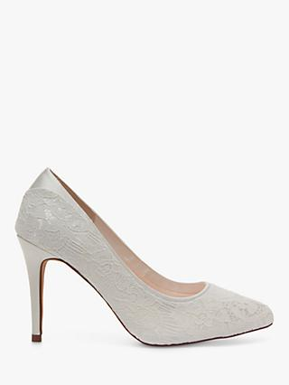 Rainbow Club Billie Luxury Lace Court Shoes, Ivory