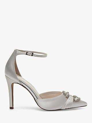 Rainbow Club Filippa Embellished Two Part Court Shoes, Ivory