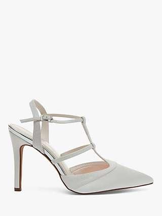 Rainbow Club Rita Satin Strappy Court Shoes, Ivory