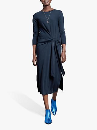 hush Susanna Long Sleeve Tie Dress, Midnight