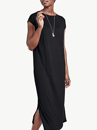hush Midi T-Shirt Dress, Black
