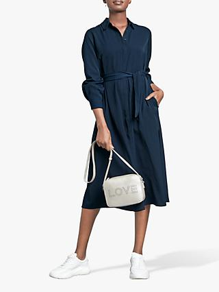 hush Josie Shirt Dress, Midnight Blue