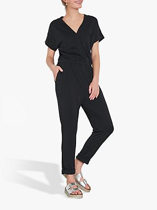 hush Jersey Pique Jumpsuit, Washed Black