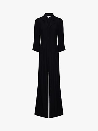 Ghost Olivia Crepe Jumpsuit, Black