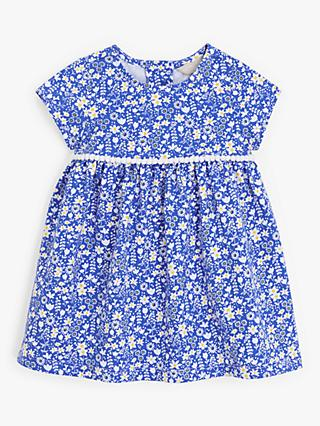 John Lewis & Partners Baby Floral Print Dress, Blue