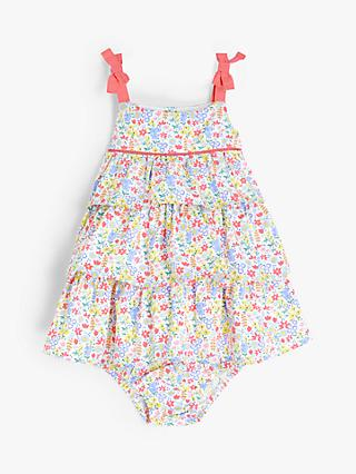 John Lewis & Partners Baby Ditsy Floral Dress and Knickers Set, Multi