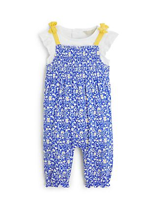John Lewis & Partners Floral Romper and T-Shirt Set, Blue