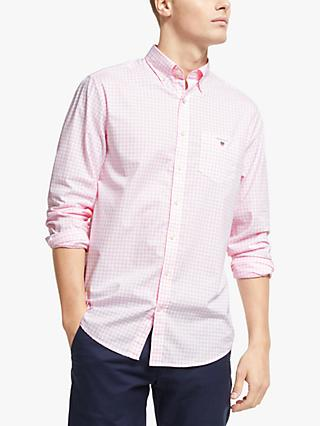 GANT Broadcloth Banker Regular Fit Gingham Shirt, Shadow Rose