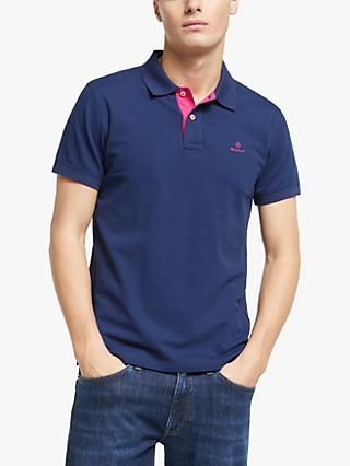 GANT Contrast Collar Pique Short Sleeve Polo Shirt