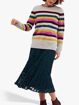 White Stuff Emerson Stripe Cashmere Jumper, Multi