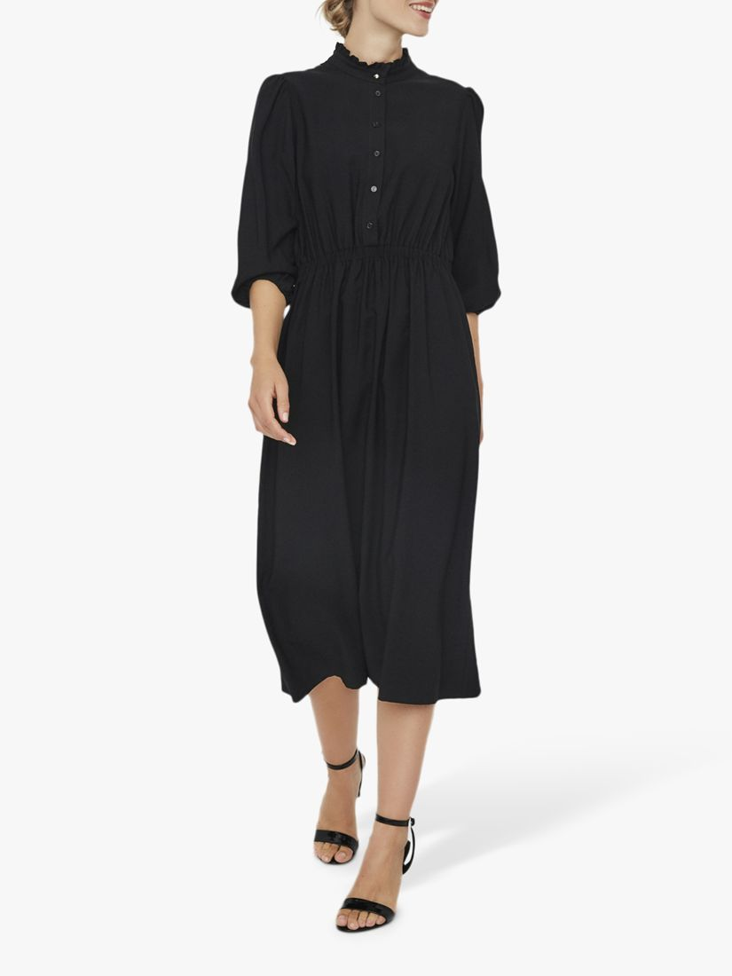 Vero Moda AWARE BY VERO MODA Frill Collar Dress, Black