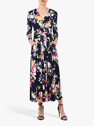 Jolie Moi Long Sleeve Printed Maxi Dress, Floral Multi