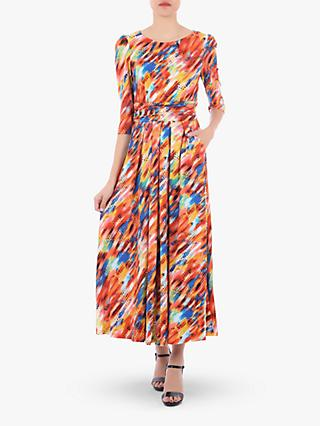 Jolie Moi Abstract Stripe Dress, Orange