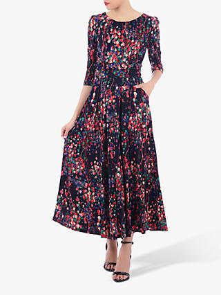 Jolie Moi Abstract Floral Print Dress, Multi