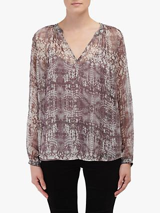 Velvet by Graham & Spencer Peyton Blouse, Snakeskin