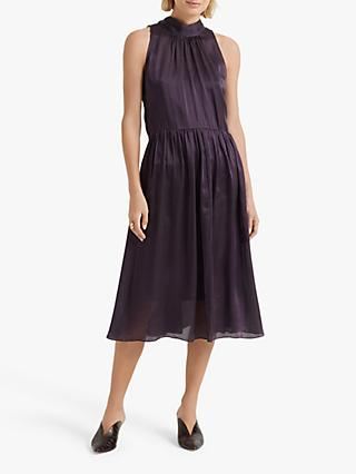 Club Monaco Tie Back Silk Dress, Merlot