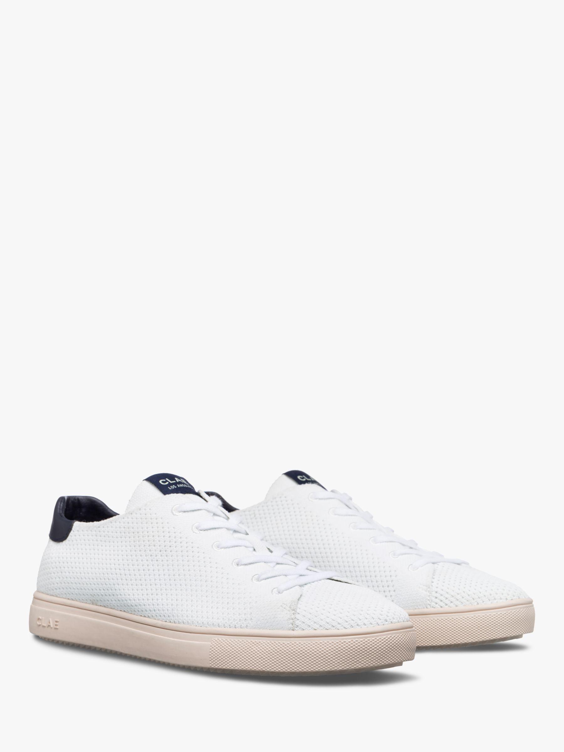 Clae CLAE Bradley Knit Trainers, White/Navy